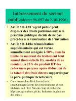int ressement du secteur public d cret 96 857 du 2 10 1996
