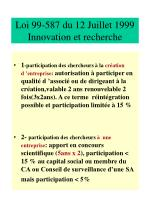 loi 99 587 du 12 juillet 1999 innovation et recherche