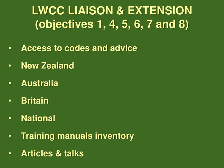 LWCC LIAISON & EXTENSION