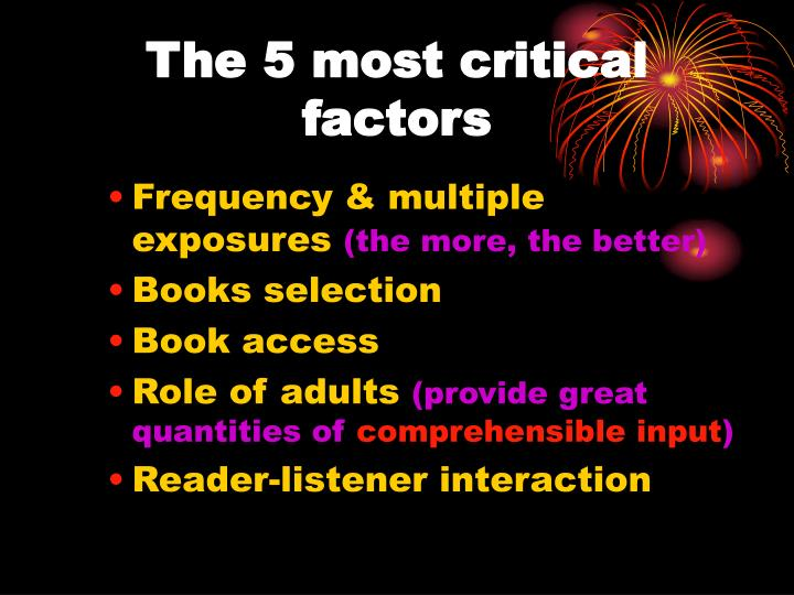 The 5 most critical factors