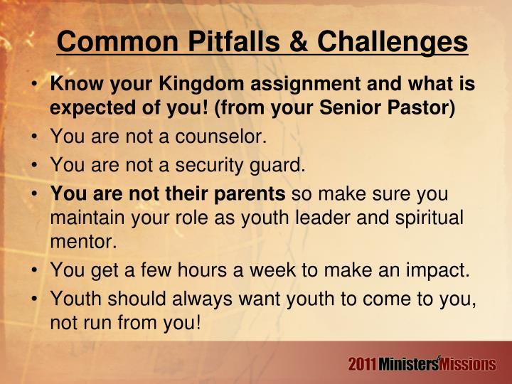 Common Pitfalls & Challenges