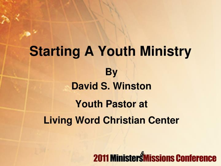 Starting a youth ministry