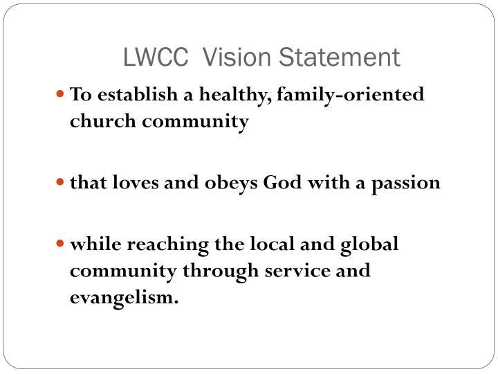 Lwcc vision statement