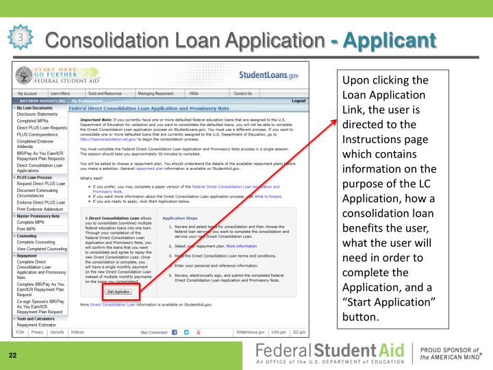 Consolidation Loan Application