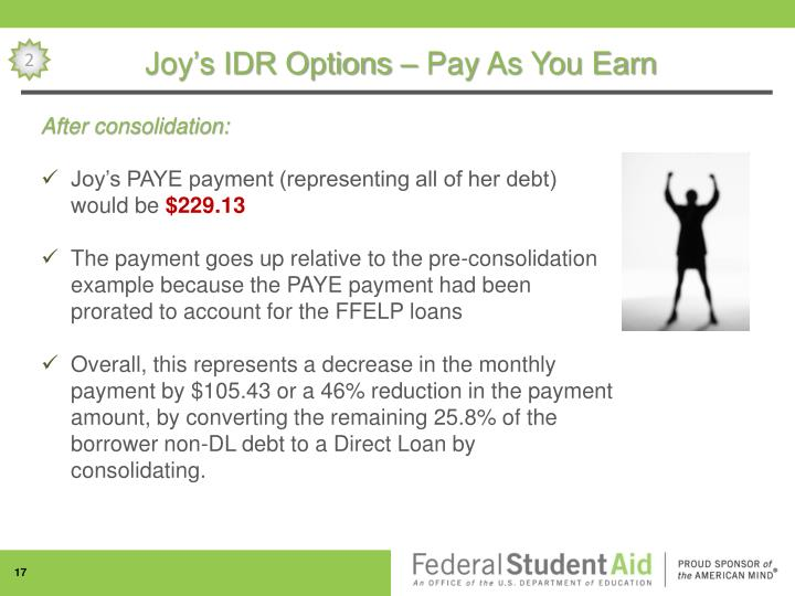 Joy's IDR Options – Pay As You Earn