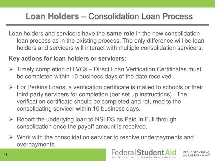 Loan Holders