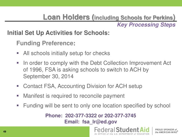 Loan Holders (