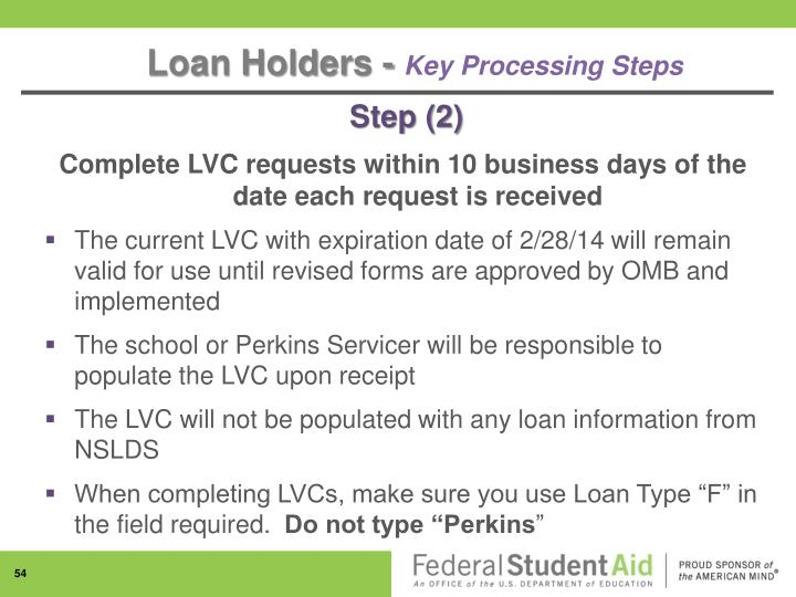 Loan Holders -
