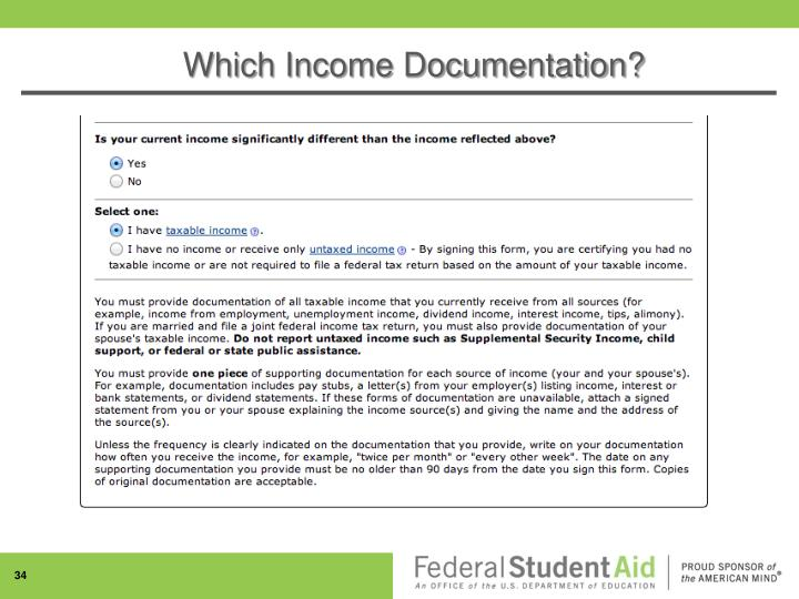 Which Income Documentation?