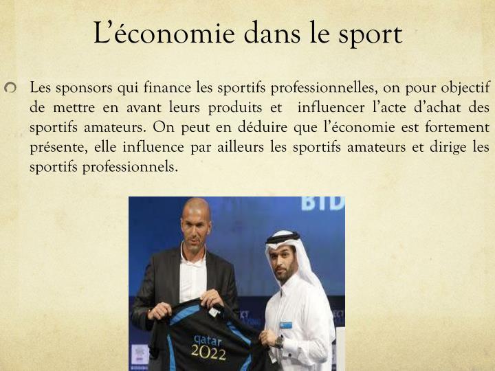 L'économie dans le sport