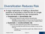diversification reduces risk