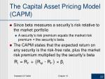 the capital asset pricing model capm1