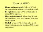 types of mncs