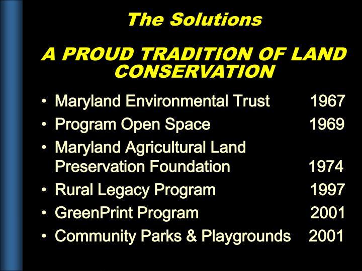Maryland Environmental Trust         1967