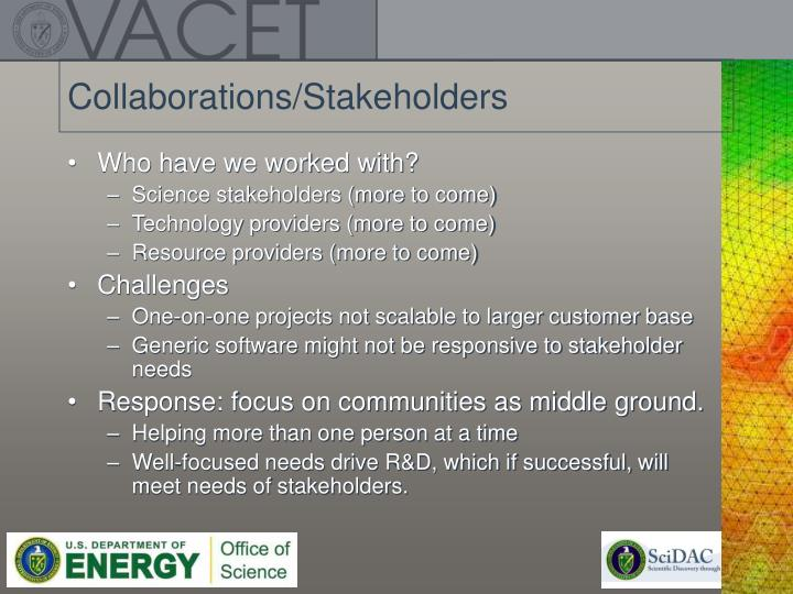 Collaborations/Stakeholders