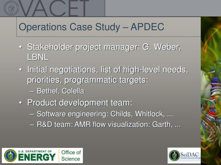 Operations Case Study – APDEC