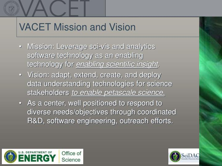 VACET Mission and Vision