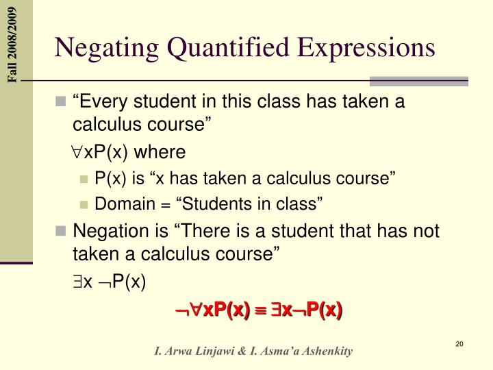Negating Quantified Expressions