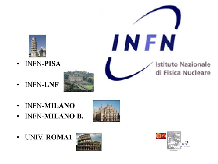 Infn the involved groups