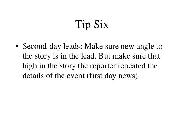 Tip Six
