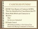 canceled funds