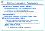 change propagation approaches