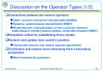 discussion on the operator types 1 2