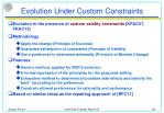 evolution under custom constraints