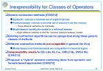 inexpressibility for classes of operators
