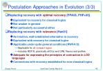 postulation approaches in evolution 3 3