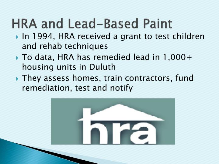 HRA and Lead-Based Paint