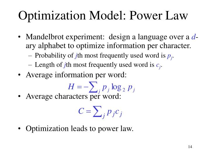 Optimization Model: Power Law