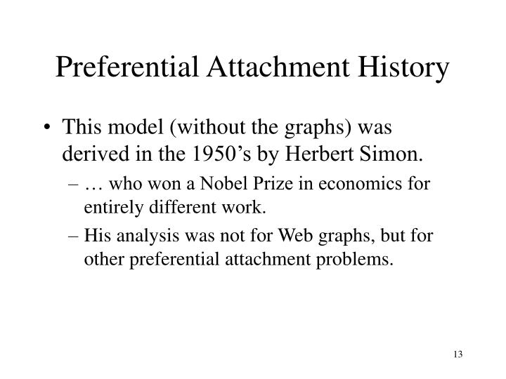 Preferential Attachment History