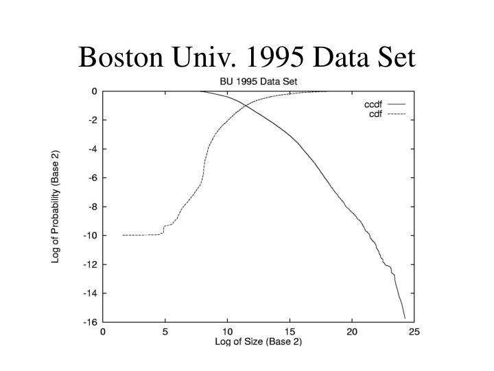 Boston Univ. 1995 Data Set