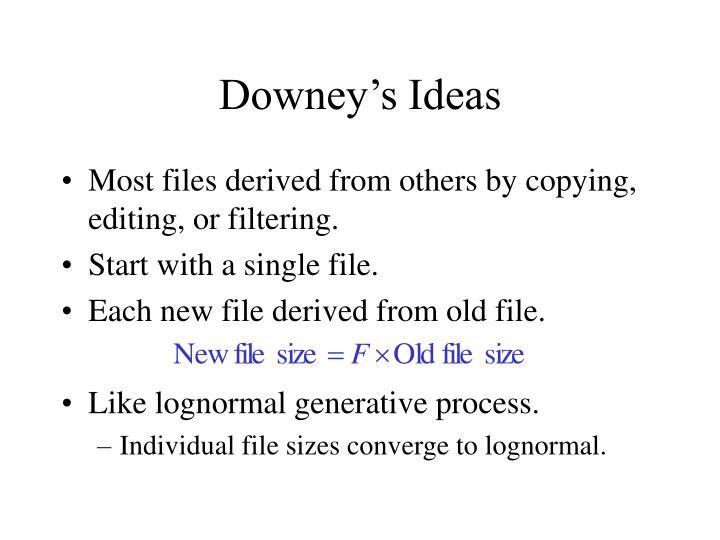 Downey's Ideas