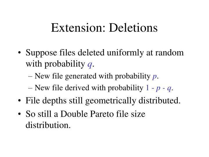 Extension: Deletions