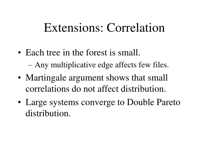 Extensions: Correlation