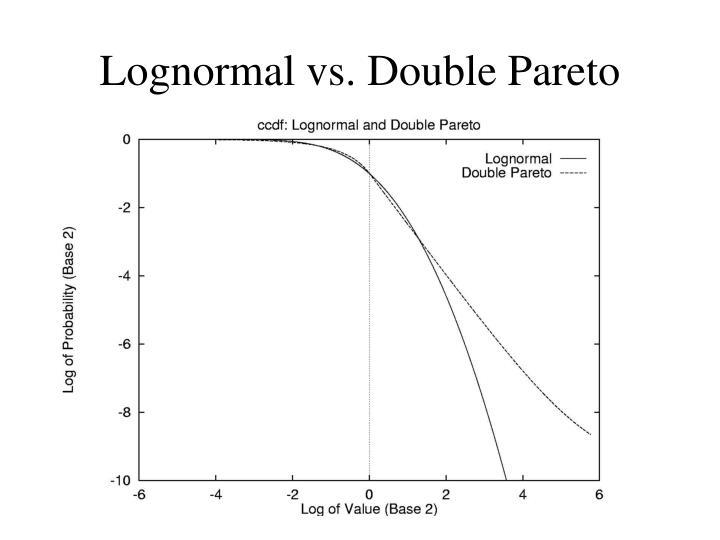 Lognormal vs. Double Pareto