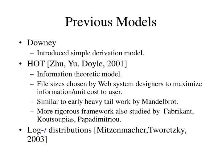 Previous Models