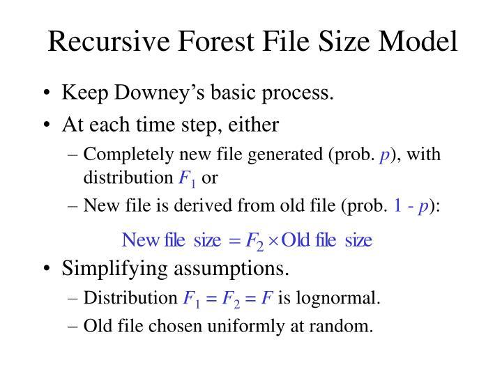 Recursive Forest File Size Model