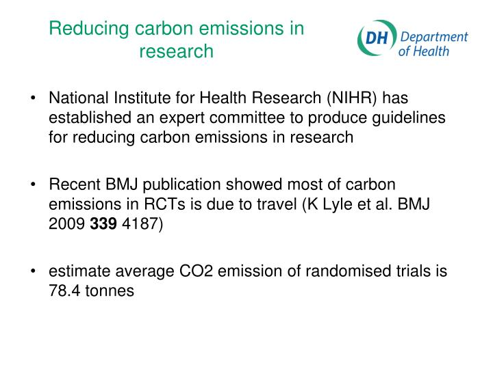 Reducing carbon emissions in research