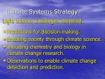 climate systems strategy
