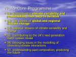 ncas core programme