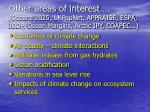 other areas of interest oceans 2025 ukpopnet appraise espa iodp ocean margins arctic ipy coapec