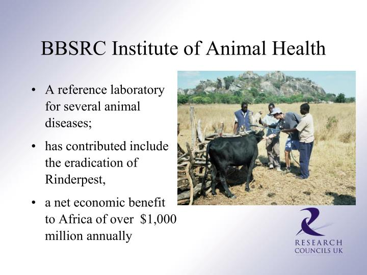 A reference laboratory for several animal diseases;