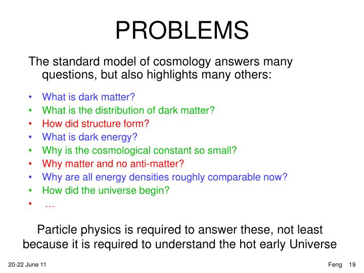 The standard model of cosmology answers many questions, but also highlights many others: