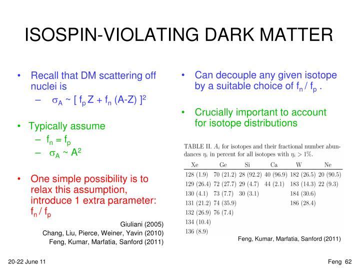 ISOSPIN-VIOLATING DARK MATTER