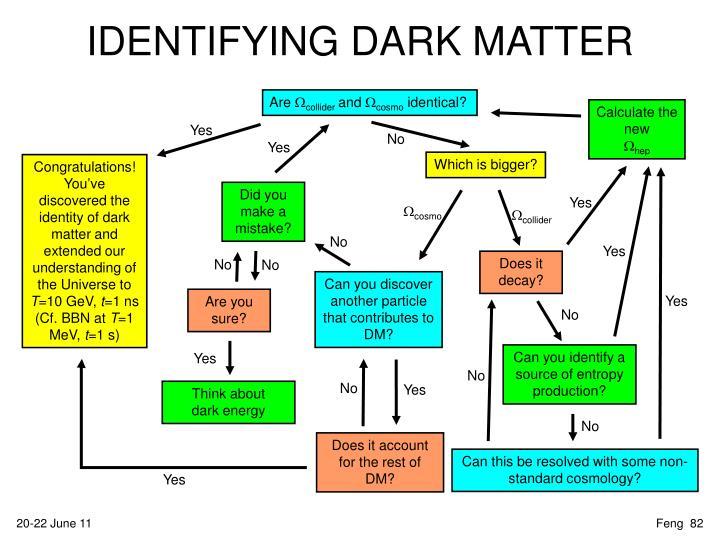 IDENTIFYING DARK MATTER