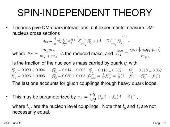 SPIN-INDEPENDENT THEORY