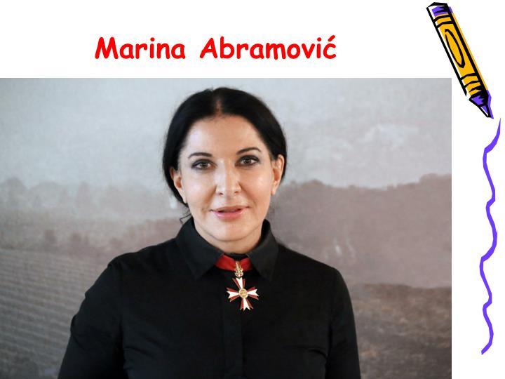 Marina abramovi